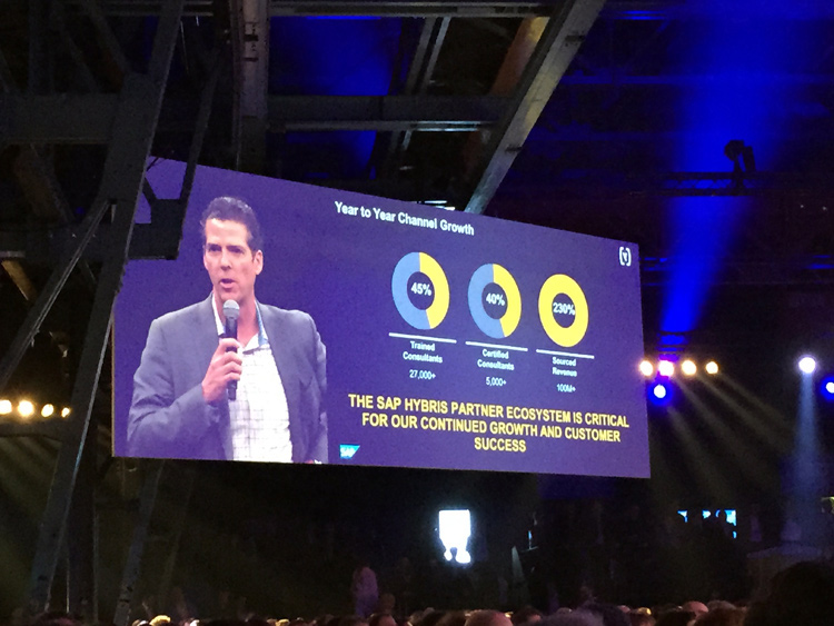 Une croissance importante, soutenue par les partenaires dont les dirigeants de SAP Hybris reconnaissent le rôle critique
