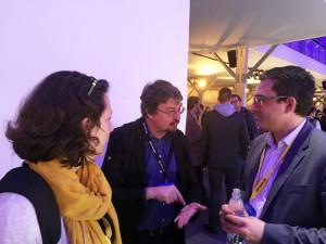 Jérome au centre de la photo. A gauche: Anne Domain, engagement manager chez SAP. A droite: Yannick Touillon-Renaud Service Delivery Manager chez SAP Hybris