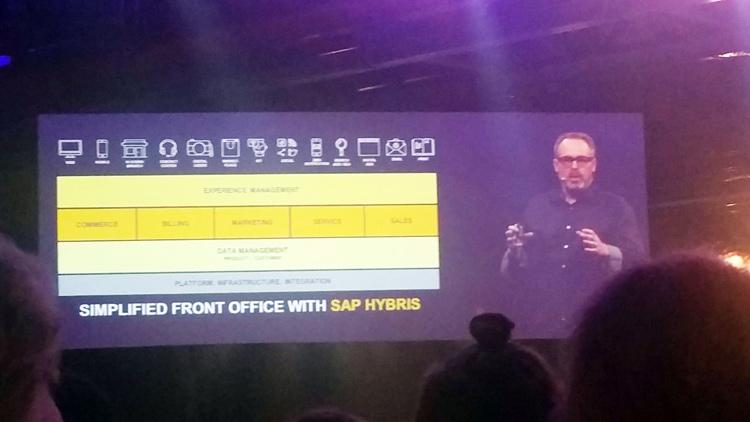 Brian Walker a notamment évoqué lors de la Keynote les efforts accomplis par les équipes de développement d'Hybris pour simplifier le front office (et le back office aussi)